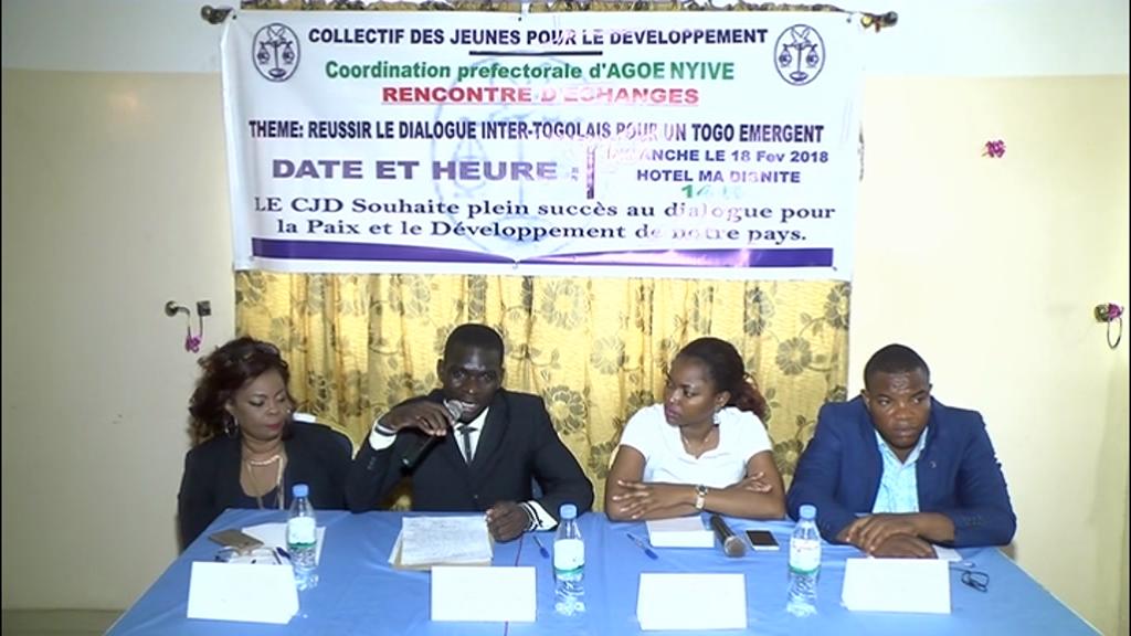 Le Collectif des Jeunes pour le Développement(CJD) veut la paix  au Togo