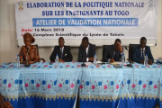 VALIDATION POLITIQUE NATIONALE SUR LES ENSEIGNANTS AU TOGO