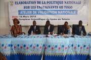 VALIDATION POLITIQUE NATIONALE SUR LES ENSEIGNANTS AU TOGO