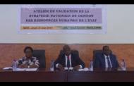 VALIDATION STRATEGIE NATIONALE GESTION DES RESSOURCES HUMAINES DE L'ETAT