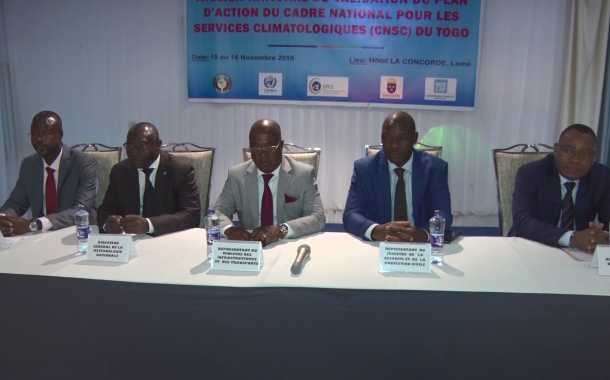VALIDATION CADRE NATIONAL SERVICE CLIMATOLOGIQUE DU TOGO