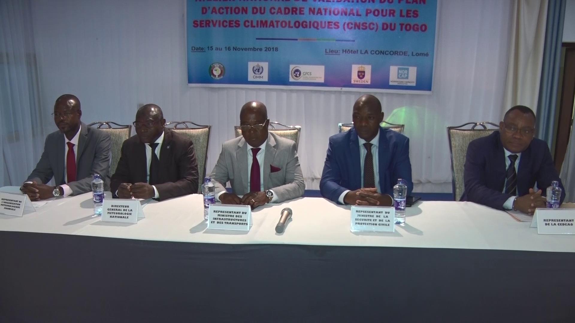 VALIDATION CADRE NATIONAL SERVICE CLIMATOLOGIQUE DU TOGO
