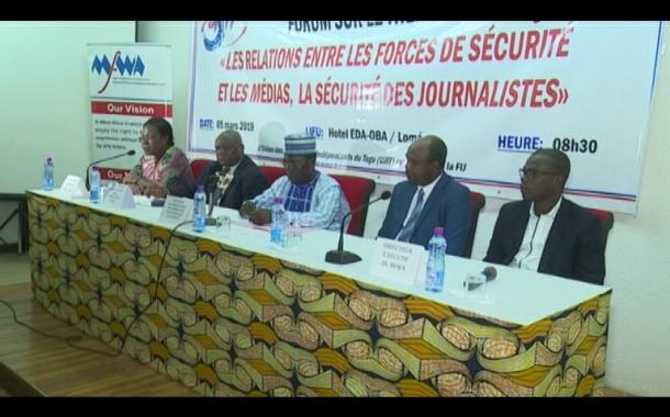 FORUM SUR RELATION FORCES DE SECURITE ET MEDIAS UJIT