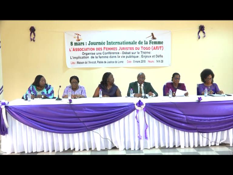 l'Association des Femmes Juristes du Togo veut une participation de la femme à la vie publique
