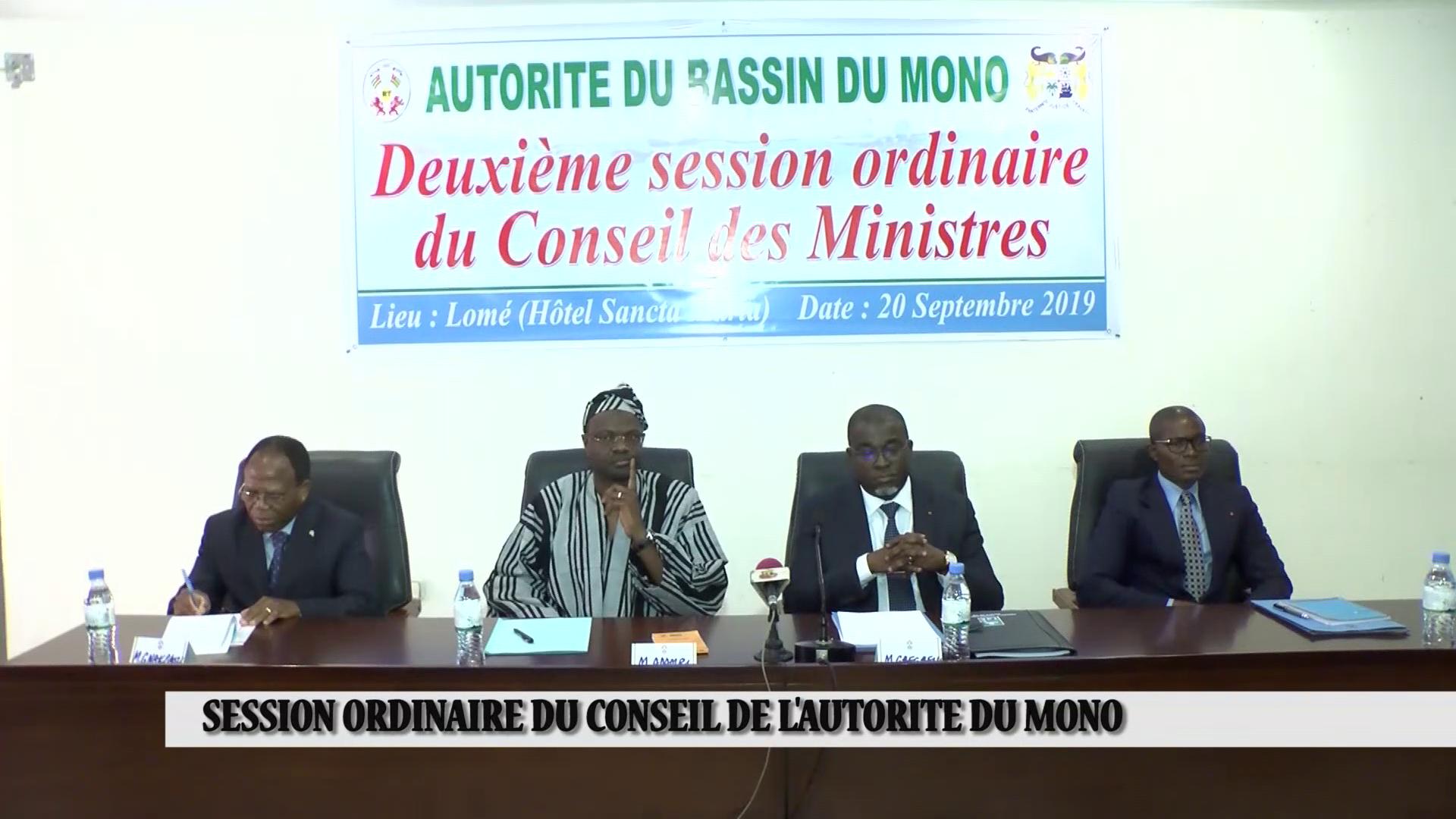 SESSION ORDINAIRE DU CONSEIL DE L'AUTORITE DU BASSIN DU MONO
