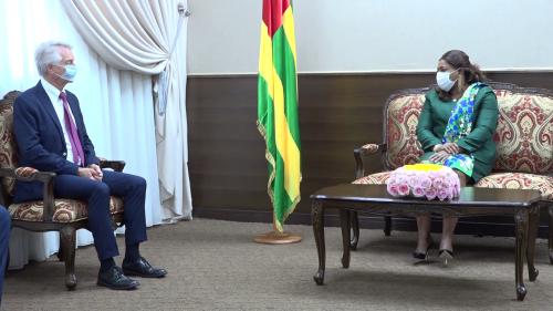 Yawa Djigbodi TSEGAN a conféré avec André Reichardt, Président du groupe d'amitié France-Afrique de l'Ouest